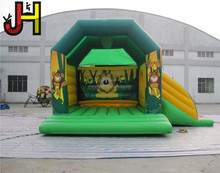 Forest Animal Theme Inflatable Bouncer, Inflatable Jungle Bouncer, Inflatable Jumping House With Slide For Sale