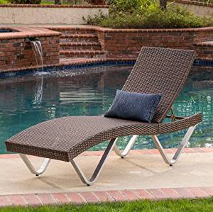 Best Home San Marco Outdoor Patio Pool Wicker Chaise Lounge Chair