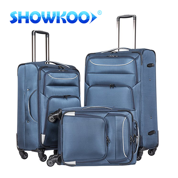 Best Selling 1680D medium laptop trolley bags, usb luggage suitcase