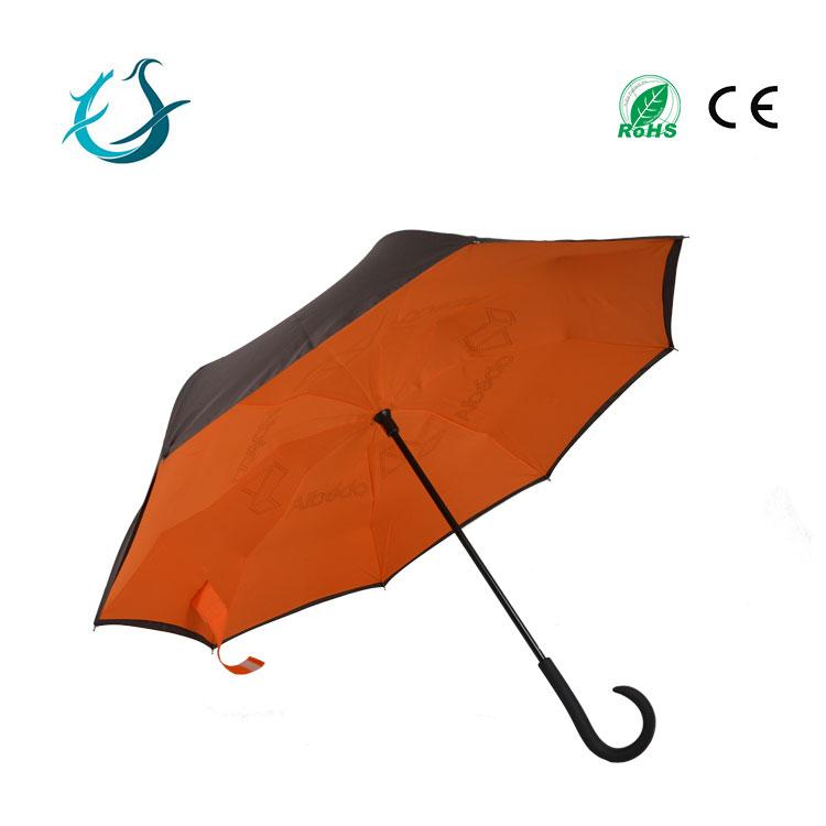 upside-down reversed magicbrella c handle umbrella for wholesale