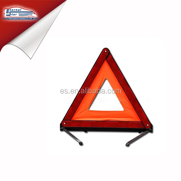 Safety warning with E-mark certificate