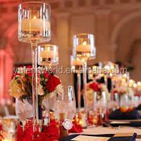 Crystal Candlesticks for wedding / acrylic candelabra votive wine bottle tealight candle holder
