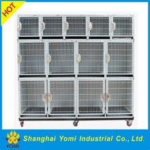 China highest quality iron commercial dog cage with wheels
