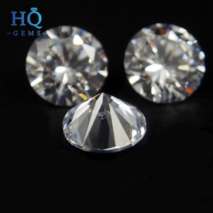 Machine Cut Cubic Zirconia Heat resistant Zircon Price 1mm White CZ Stone