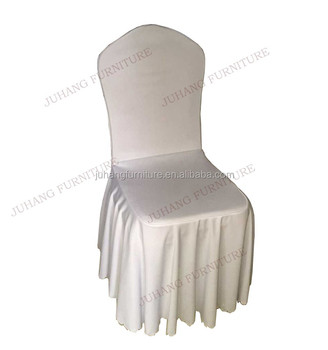 Wholesale 100% Polyester Wedding Fancy Banquet Hall Spandex Banquet Chair  Cover White