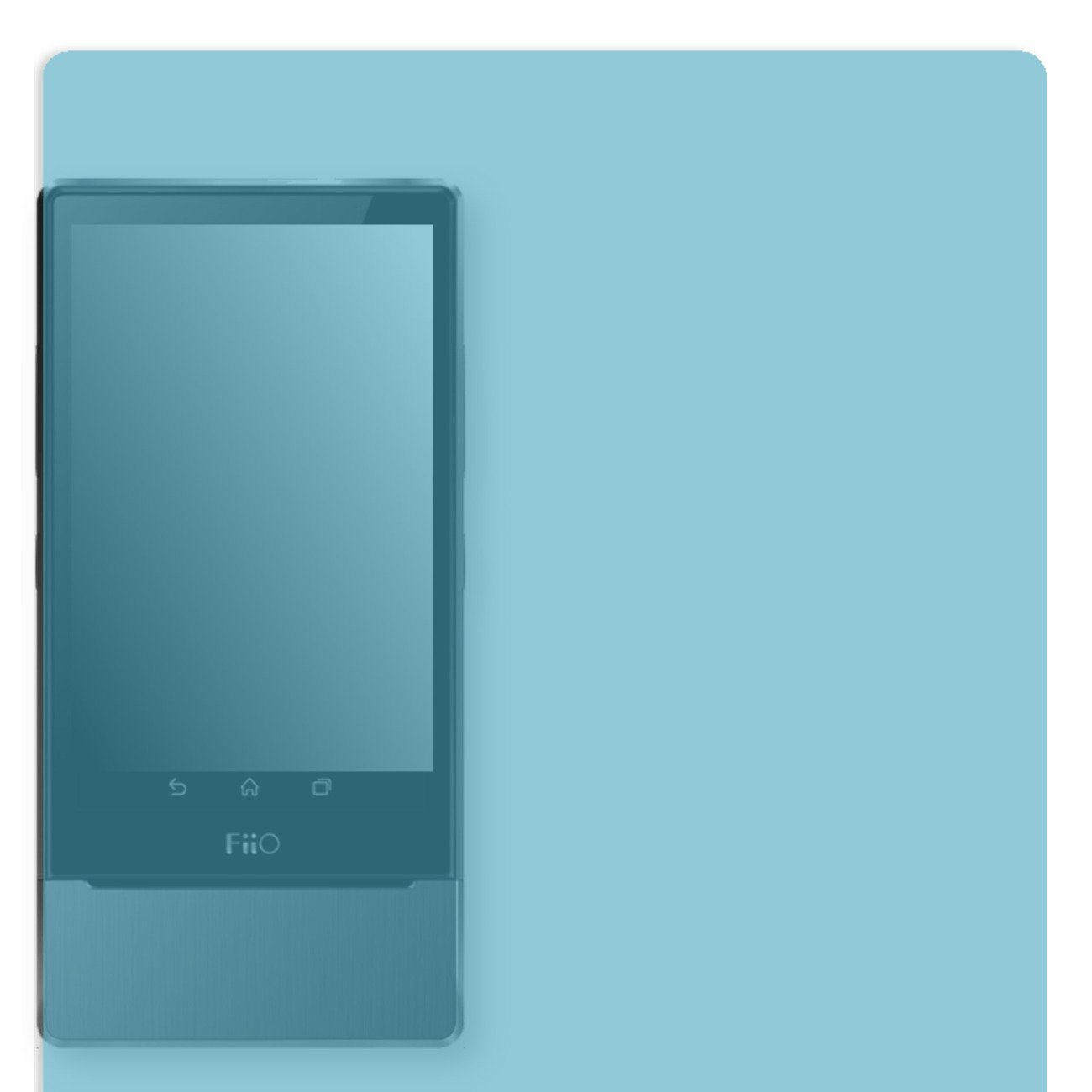 GOLEBO Screen Film for Privacy protection blue for Fiio X7 - PREMIUM QUALITY