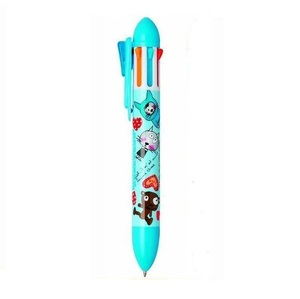 plastic 6 color multi-color jumbo pen(2color 4color 6color)