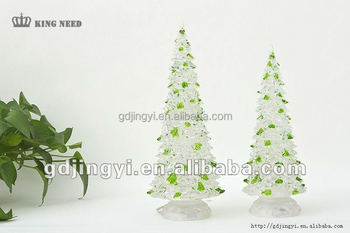 Color changing lighting clear outdoor christmas acrylic tree with