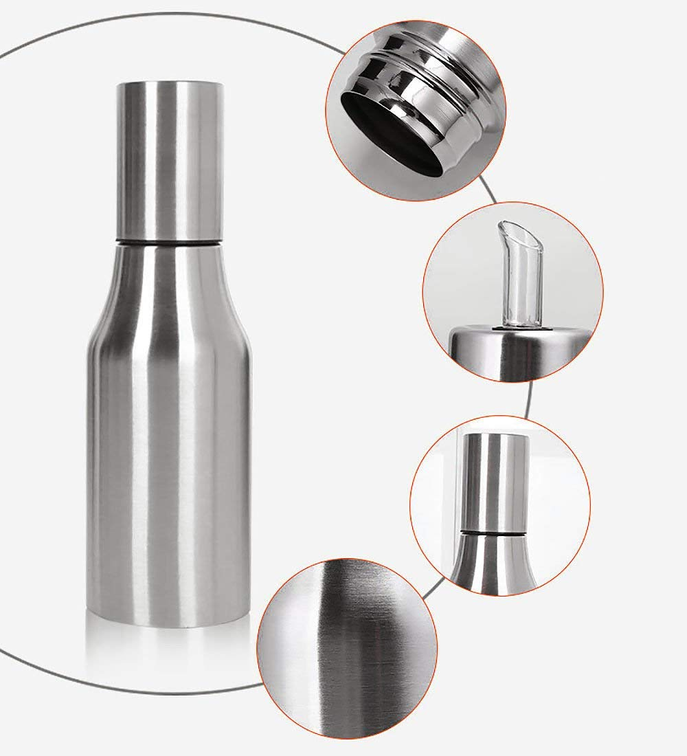 Brand New Food Grade Stainless Steel Oiler Oil Pot 500ml Handsome Appearance Commercial Kitchen Equipment