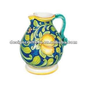 decorative ceramic clay water jug