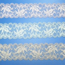 Wedding dress polyamide spandex decorating elastic stretch border lace for bride