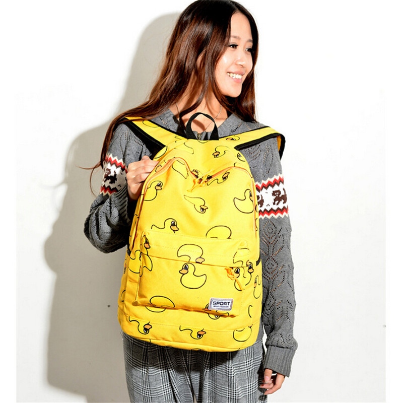 103e50772caf Get Quotations · Mochila Canvas Printing Backpack Banana Fashion Women  Backpack Cute Girl School Bag Travel Bag College Rucksack
