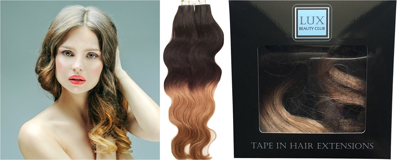 Buy 20 Color Ombre Wavy 20 Pcs Per Package Indian Remy Human Tape