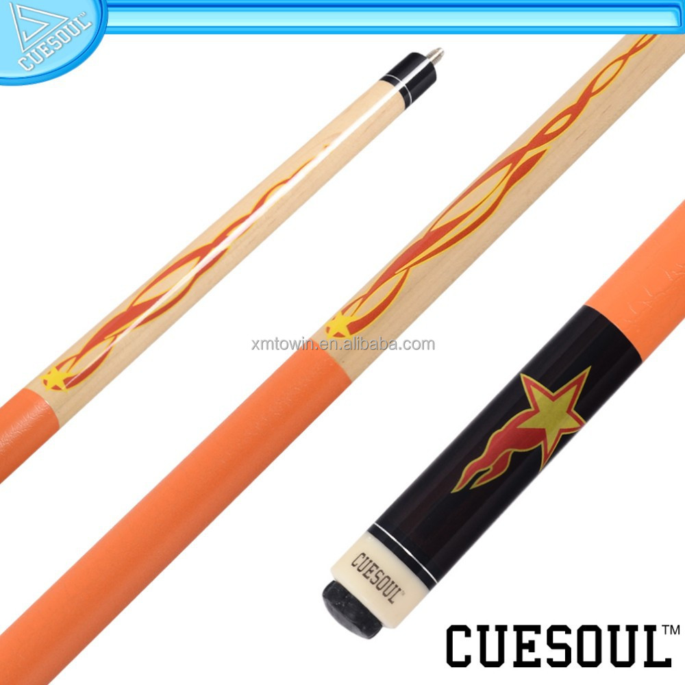 CUESOUL Best Selling 1/2 Pool Cue with Decal Quick Release,Rubber Wrap and Stainless Steel