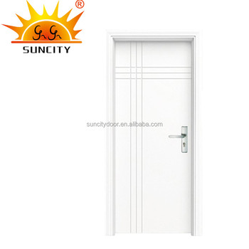 White And Simple Interior Pvc Flash Door Designs In Pakistan Sc P052