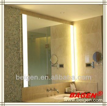 aluminum framed silver bath mirror with side lighting made in, Home design