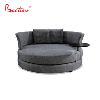 Genial American Style Big Round Seating Fabric Chair