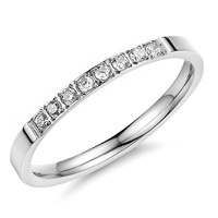 European American Diamond Ring Stainless Steel Ring Women
