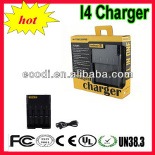 Hot!! Intellicharge Most of Li-Ion Ni-Cd Ni-MH 4-Channel Smart Battery Charger/i4 charger/sysmax i4/Intellicharger i4 Charger