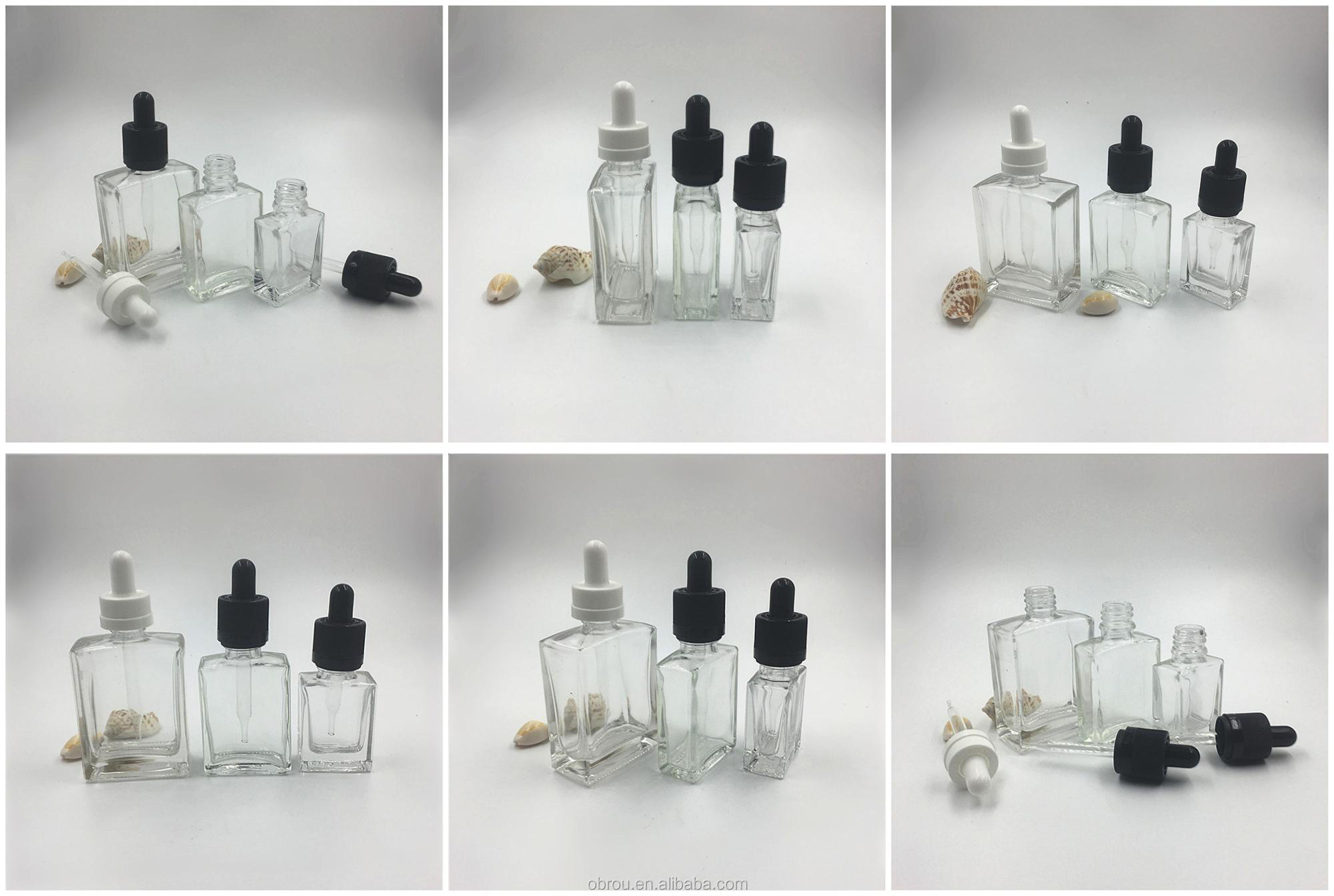 1oz black essential oil bottle glass 30ml original black Lavender Oil glass bottle with crc dropper pipette