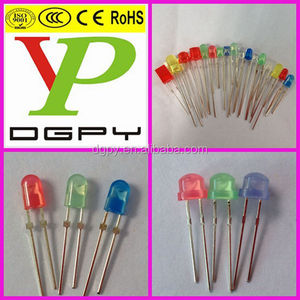 LED Diode: Oval, square, rectangular, Straw Hat, flat top, 10mm, 8mm, 4mm, 2mm, 1.8mm in Various colors ( CE & RoHS )