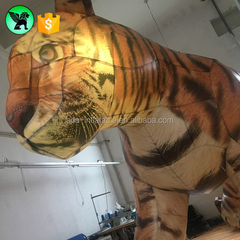 2.5mX5m Event Promotional Inflatable Tiger Customized Giant Tiger Animal Inflatable A3374