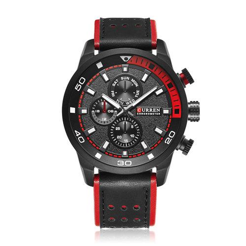 Top Brand Curren 8250 Men Quartz Watch Luxury Brand Leather Brand clock Men Wristwatch Relojes Hombre, 3 color for you choose