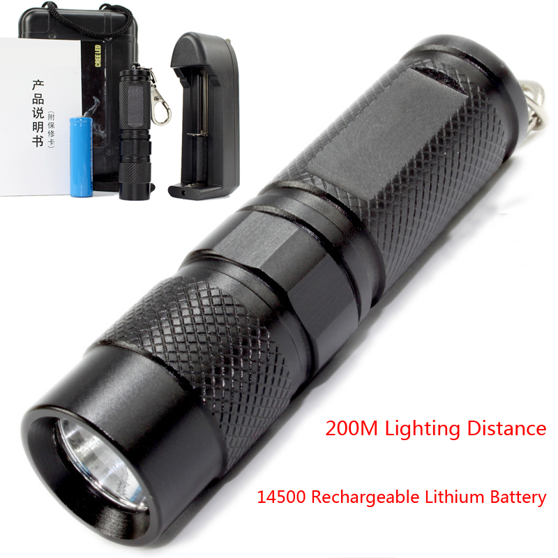 high quality 8cm mini led flashlight 3 files 14500 rechargeable lithium battery lampe torche 240. Black Bedroom Furniture Sets. Home Design Ideas
