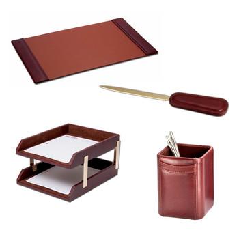 Modern Luxury Office Desk Leather