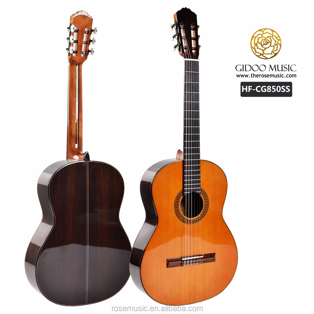 High end handmade all solid wood Rosewood classical guitar handmade