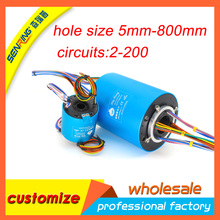 360 devices rotating hollow shaft Senring through hole slip ring