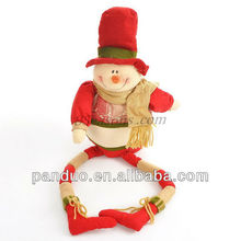 Multicolor Christmas Snowman Long Leg Toys Dolls Charm Ornament