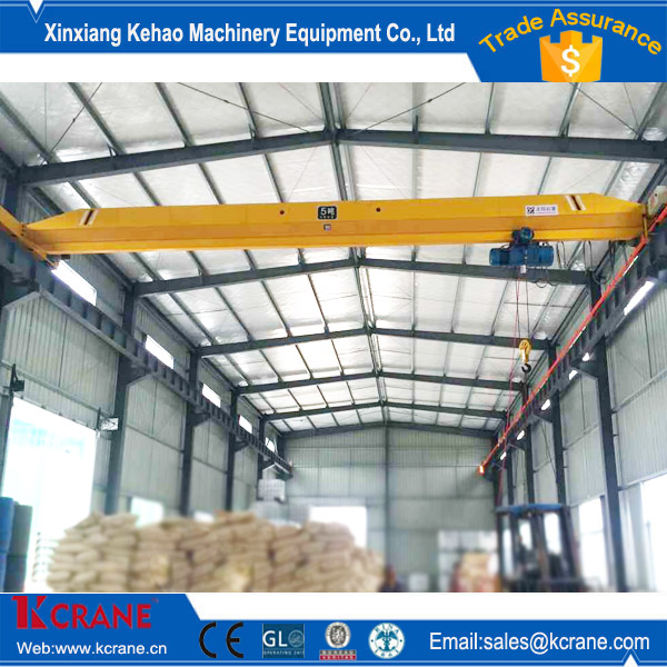 Steel Factory Electric Single Girder Overhead Mobile Bridge Crane