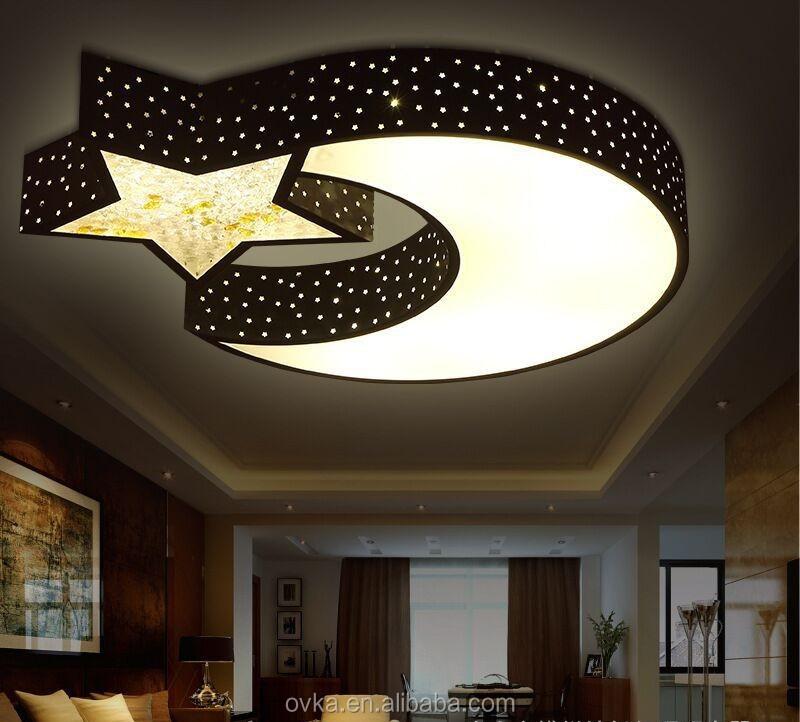 LED Deckenleuchten Schlafzimmer Modernen Minimalistischen Wohnzimmer Lampe  Kreative Kinderzimmer Lampe Schmiedeeiserne Lampe Mond Und ...