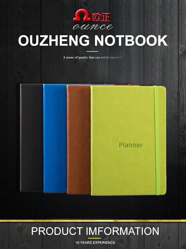 Eco friendly reusable paper notebook custom printing