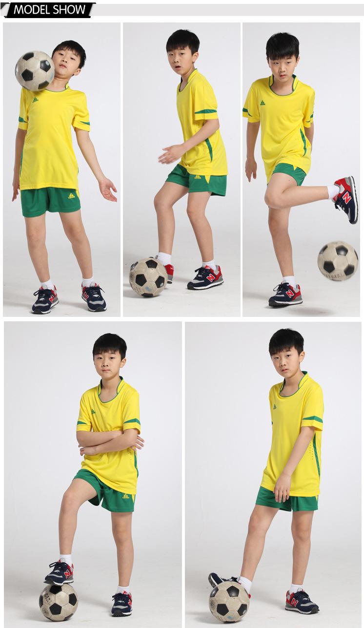 wholesale lidong polyester mesh unique football jersey set short sleeve shorts soccer cloth futebol jerseys