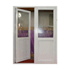 double open swing open casemnt door/aluminum frame glass double entry door