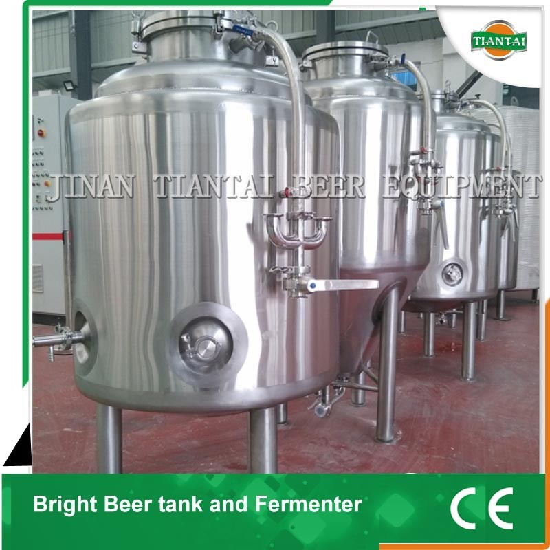 500l stainless steel mash lauter tun with 1000l fermentation tank