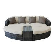 Rattan combination sun bed furniture, made of rattan and aluminum