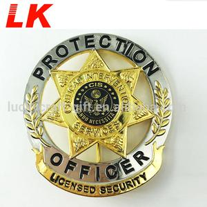 Custom Cheap Soft enamel Metal Lapel Pin Security Badge
