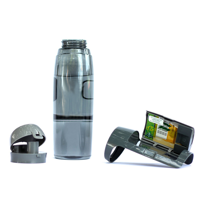 Hot Products Custom Logo BPA Free Plastic Water Bottle with Storage Compartments