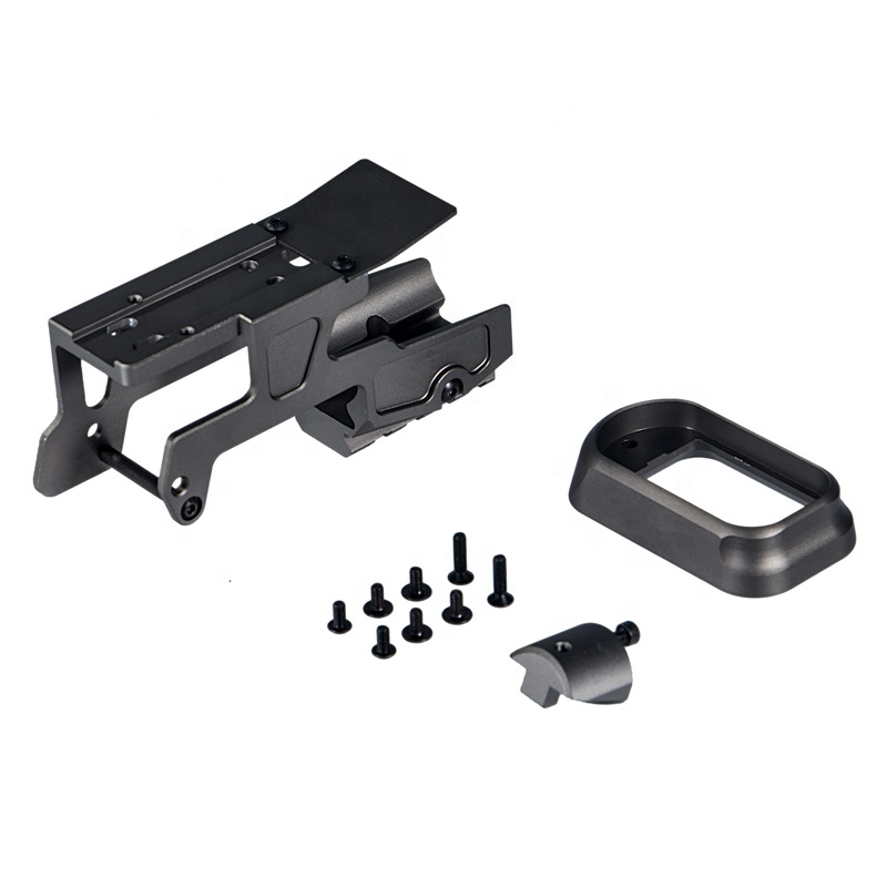 ALG Defense 6 Second - Red Dot Sight Optics Scope Mount For Pistol Gen3 Glock 17 18C 22 24 31 34 35 Handguns With Magwell