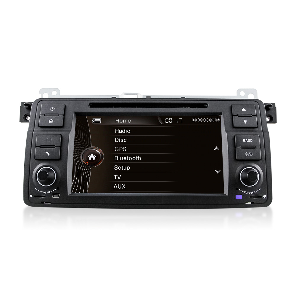 7 hd touch screen car dvd player gps navigation for bmw e46 3 series m3 gps bluetooth radio usb. Black Bedroom Furniture Sets. Home Design Ideas