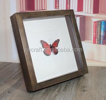 Walnut Deep Box Frame 25 Cm X 25 Cm Buy Wood Box Framewood Photo