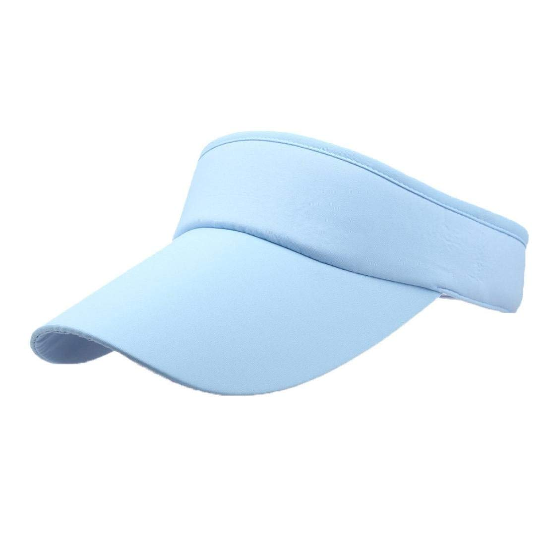 cbed9d3082fc9 Get Quotations · Buyeverything Men Women Sport Sun Visor One Size Velcro Cap  Classic Fitness Outdoor Activity Exercise Sun
