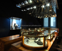 luxury glass used jewelry display showcase for store design