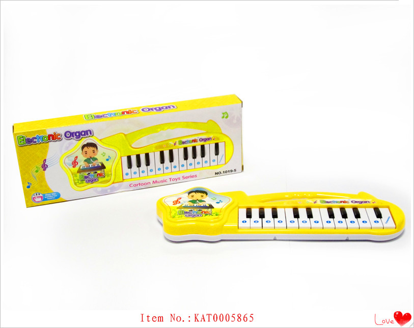 Baby Early Educational Toy Cartoon Music Instrument Plastic Piano Keyboard For Sale