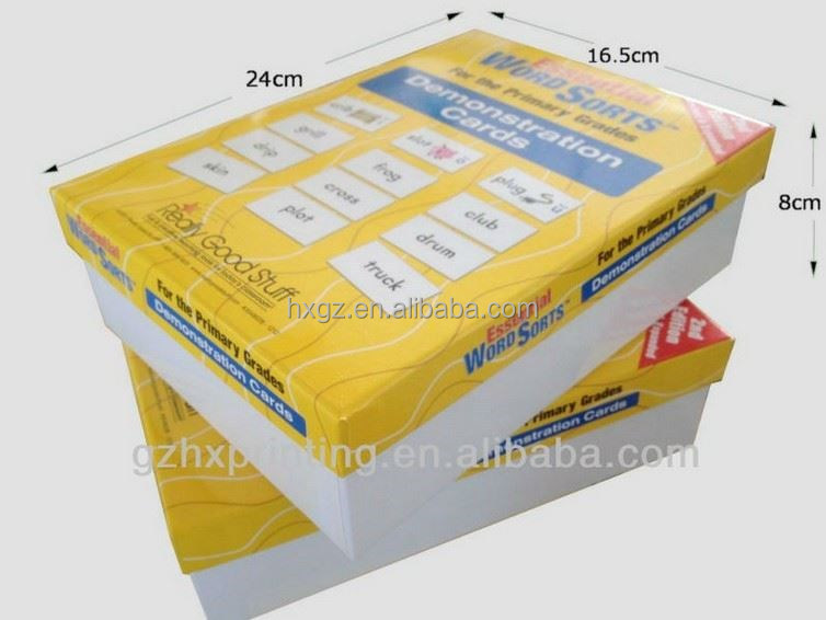 GuangZhou Selling Paperboard Study Cards Box with 6 Slots