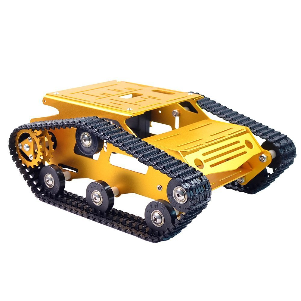 DIY Robot Tank Car Chassis Smart Kit Rubber Track Crawler For Arduino 130 Motor
