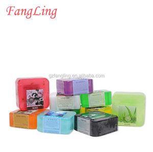 china factory wholesale deep cleansing beauty lemon rose milk marine aloe vera neem a series of soap